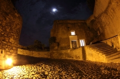 Remparts de la citadelle et Tour du Sel - English: The Citadel of Calvi by night.