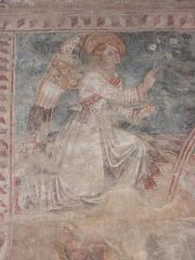 Eglise Saint-Thomas de Pastoreccia - Deutsch: Verkündigungsengel, Freske 15/16.JH auf dem Triumphbogen.