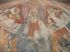 Eglise Saint-Thomas de Pastoreccia - Deutsch: Apsisfresken 15/16. JH, Christus Pantokrator umgeben von Engeln.
