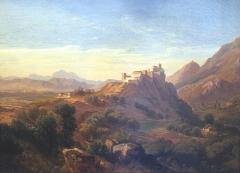 Citadelle - English: Weimar, Schlossmuseum, Carl Hummel, old castle of Corte on Korsika