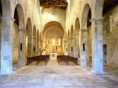Cité antique de Mariana -  interieur de la basilique
