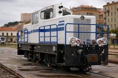 Viaduc sur le Vecchio ou pont Eiffel (également sur commune de Vivario) -  Un locotracteur de type BB que je n'avais encore jamais remarqué à la gare d'Ajaccio. Il avait une bonne tête!