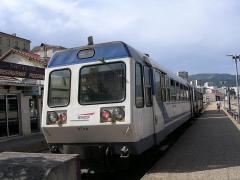 Viaduc sur le Vecchio ou pont Eiffel (également sur commune de Vivario) -  France Corse Autorail en gare d'Ajaccio