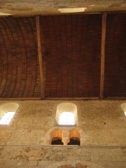 Ancienne abbaye Notre-Dame - Deutsch: Holzgewölbe in der Abteikirche von Bernay, Normandie, Frankreich