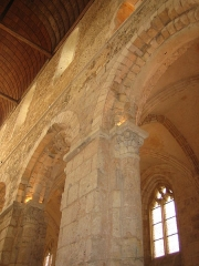 Ancienne abbaye Notre-Dame - Deutsch: Pfeiler in der Abteikirche von Bernay, Normandie, Frankreich