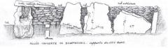Allée couverte - Français:   Supports côté ouest de l\'allée couverte de Dampsmesnil dessinée par Coutil vers 1897