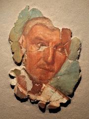 Evêché et ses dépendances - Fresque gallo-romaine trouvée à Evreux en 1989; 250-275 + JC. Musée d'Evreux.