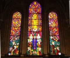 Eglise Saint-Aubin - Français:   vitrail du chevêt de l\'église de Pacy-sur-Eure