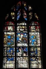 Eglise - Deutsch:   Katholische Kirche Saint-Hilaire in Tillières-sur-Avre im Département Eure (Region Normandie/Frankreich), Bleiglasfenster um 1545/50, von Max Ingrand 1952 vervollständigt; Darstellung: Marienlitanei