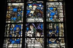 Eglise - Deutsch:   Katholische Kirche Saint-Hilaire in Tillières-sur-Avre im Département Eure (Region Normandie/Frankreich), Bleiglasfenster um 1545/50, von Max Ingrand 1952 vervollständigt; Darstellung: Marienlitanei (Ausschnitt)
