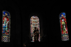 Ancienne abbaye Saint-André - Deutsch: Ehemalige Benediktiner-Abteikirche Saint-André-Saint-Léger in Meymac im Département Corrèze (Nouvelle-Aquitaine/Frankreich), Bleiglasfenster
