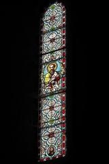 Ancien prieuré Saint-Michel des Anges - Deutsch: Ehemalige Prioratskirche Saint-Michel-des-Anges in Saint-Angel im Département Corrèze (Nouvelle-Aquitaine/Frankreich), Bleiglasfenster; Darstellung: