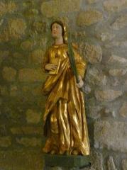 Eglise Saint-Cyr-Sainte-Julitte - Français:   Statue du XVIIe siècle en bois doré et peint représentant probablement sainte Catherine d\'Alexandrie, église de Saint-Cirgues-la-Loutre, Corrèze, France.