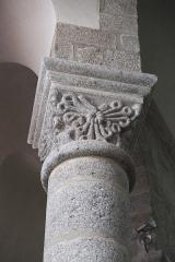 Eglise Saint-Barthélémy - Deutsch: Abteikirche Saint-Barthélémy in Bénévent-l'Abbaye im Département Creuse (Nouvelle-Aquitaine/Frankreich), Kapitell