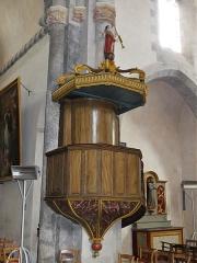 Eglise Sainte-Valérie, dite église du Moutier - Français:   La chaire de l\'église Sainte-Valérie, Felletin, Creuse, France.