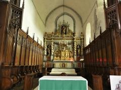 Eglise Sainte-Valérie, dite église du Moutier - Français:   Le chœur de l\'église Sainte-Valérie de Felletin, Creuse, France.