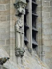 Eglise Sainte-Valérie, dite église du Moutier - Français:   Sculpture du clocher, église Sainte-Valérie, Felletin, Creuse, France.