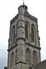 Eglise Sainte-Valérie, dite église du Moutier - Français:   Le clocher de l\'église Sainte-Valérie, Felletin, Creuse, France.