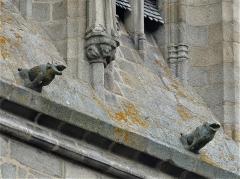 Eglise Sainte-Valérie, dite église du Moutier - Français:   Gargouilles de l\'église Sainte-Valérie, Felletin, Creuse, France.