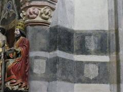 Eglise Sainte-Valérie, dite église du Moutier - Français:   Double litre funéraire dans l\'église Sainte-Valérie de Felletin, Creuse, France.
