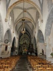Eglise Sainte-Valérie, dite église du Moutier - Français:   La nef de l\'église Sainte-Valérie de Felletin, Creuse, France.