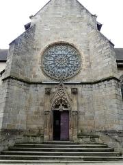 Eglise Sainte-Valérie, dite église du Moutier - Français:   Le portail nord de l\'église Sainte-Valérie, Felletin, Creuse, France.