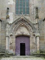 Eglise Sainte-Valérie, dite église du Moutier - Français:   Le portail ouest de l\'église Sainte-Valérie, Felletin, Creuse, France.