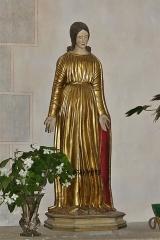 Eglise Sainte-Valérie, dite église du Moutier - Français:   Statue en bois doré et peint représentant la Vierge mais aussi sainte Valérie; église Sainte-Valérie de Felletin, Creuse, France.