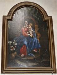 Eglise Sainte-Valérie, dite église du Moutier - Français:   Tableau de 1661 de Jean II François représentant soit la Vierge-à l\'Enfant, soit sainte Rose de Lima et l\'Enfant Jésus; église Sainte-Valérie de Felletin, Creuse, France.