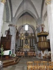 Eglise Sainte-Valérie, dite église du Moutier - Français:   Le transept sud et son retable, église Sainte-Valérie de Felletin, Creuse, France.