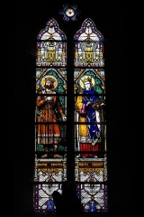 Eglise Saint-Etienne - Deutsch: Stiftskirche Saint-Étienne in Eymoutiers im Département Haute-Vienne (Nouvelle-Aquitaine/Frankreich), Bleiglasfenster