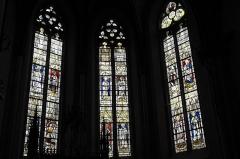Eglise Saint-Etienne - Deutsch: Stiftskirche Saint-Étienne in Eymoutiers im Département Haute-Vienne (Nouvelle-Aquitaine/Frankreich), Bleiglasfenster aus dem 15. Jahrhundert