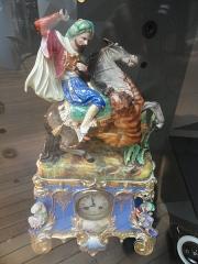 Musée national Adrien Dubouché et Ecole des Arts Décoratifs -  limoges_porcelain_museum_adrien_dubouche_martial_valin_clock_arab_cavalier_1839