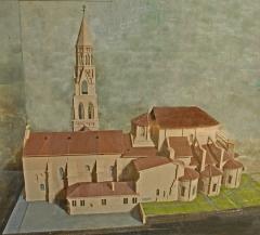 Église collégiale Saint-Léonard - Deutsch: Stiftskirche St.-Léonard-de-Noblat, Modell von Süden