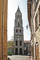 Église collégiale Saint-Léonard - Deutsch: Stiftskirche St.-Léonard-de-Noblat, Glockenturm von N