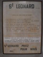 Église collégiale Saint-Léonard - English: Saint Leonard-de-Noblat (Haute-Vienne, Fr), information about St.Leonardus  outside the church