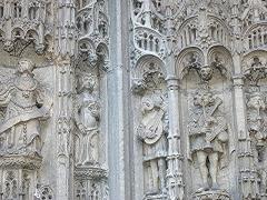 Eglise Notre-Dame - Français:   Détail du portail de l\'église de Caudebec-en-Caux, Seine-Maritime/ Photographie personnelle prise par Urban, décembre 2004/ GFDL  Urban