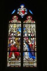 Eglise - Deutsch: Bleiglasfenster in der Kirche Notre-Dame in Neufchâtel-en-Bray im Département Seine-Maritime, Frankreich; Signatur: E. DIDRON 19?