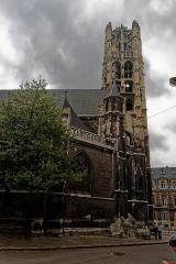 Ancienne église Saint-Laurent - English: Rouen - Rue Jacques Villon - View South on Église Saint-Laurent, nowadays: Musée Le Secq des Tournelles