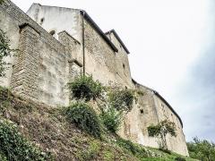 Château (ensemble du) - Français:   Muraille sud du château de Belvoir. Doubs