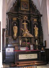 Eglise - Deutsch: St-Hippolyte (Doubs) Kirche Seitenaltar Turiner Grabtuch