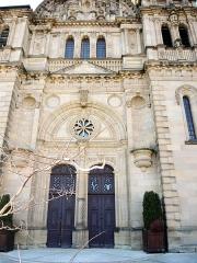 Eglise catholique Saint-Maimboeuf - Français:   Portails et tympan de l\'église Saint Maimboeuf.Montbéliard. Doubs