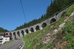 Viaduc -  Le viaduc de l'Évalude à Morez.