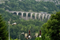 Viaduc - English:  Viaduc des Crottes in Morez; Jura, France.