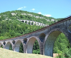 Viaduc - English: A couple of viaducs in Morez