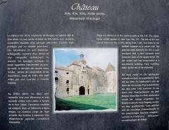 Château - Français:   Panneau informatif