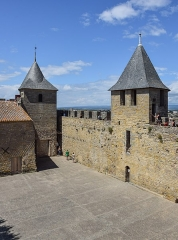 Cité de Carcassonne - English: Court of the Castle of Carcassonne, Aude, France