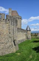 Cité de Carcassonne - English: Outer walls of the fortified city of Carcassonne, Aude, France
