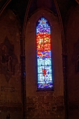 Eglise Saint-Vincent - English: Carcassonne - Église Saint-Vincent - View East on Stained Glass Window in the Choir