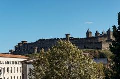 Pont-Vieux - English: Carcassonne - Rue du Pont Vieux - View ESE on La Cité